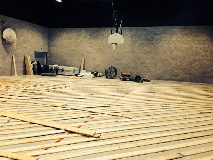 plancher en construction