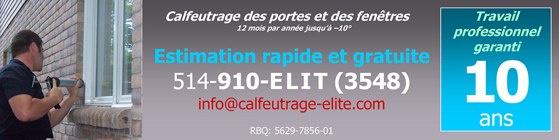 calfeutrage  Laval montreal